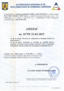 Atestat Electric Energy SERV