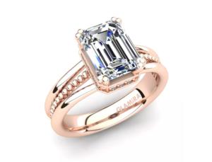 Inel de logodna din aur roz